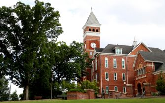CLEMSON, SOUTH CAROLINA - JUNE 10: A view of Tillman Hall on the campus of Clemson University on June 10, 2020 in Clemson, South Carolina. The campus remains open in a limited capacity due to the Coronavirus (COVID-19) pandemic.  (Photo by Maddie Meyer/Getty Images)