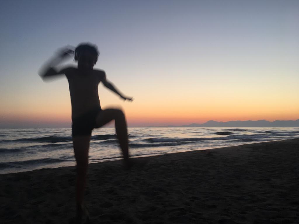 Romeo sulla spiaggia di Agropoli