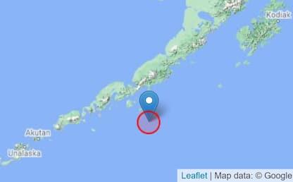 Alaska, terremoto di magnitudo 7,5 nelle isole Aleutine