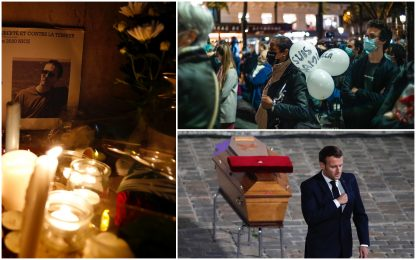 Prof decapitato a Parigi, incriminato anche padre di un'alunna