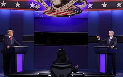 Dalle facce di Trump all'orologio di Biden, il confronto tv in 10 foto