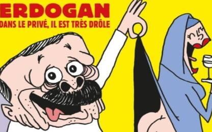 Turchia condanna la vignetta di Charlie Hebdo su Erdogan