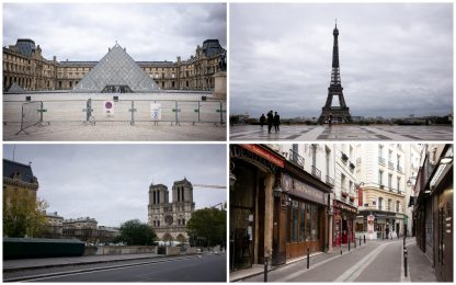 Covid, la Francia torna in lockdown: poca gente in giro a Parigi. FOTO