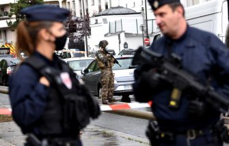 Knife attack near the former headquarters of satiric newspaper Charlie Hebdo, several victims were wounded and 2 suspects are in custody. Paris, France, September 25th, 2020. Photo by Alain Apaydin/ABACAPRESS.COM