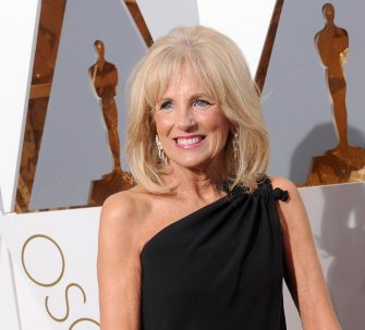 HOLLYWOOD, CA - FEBRUARY 28: Dr. Jill Biden, wife of U.S. Vice President Joe Biden, arrives at the 88th Annual Academy Awards at Hollywood & Highland Center on February 28, 2016 in Hollywood, California.  (Photo by Gregg DeGuire/WireImage)
