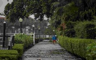 Leaf lifter from Tropical Storm Eta is strewn across Lake Trail in Palm Beach, Fla., on Monday, November 9, 2020. (Photo by THOMAS CORDY/USA Today Network/Sipa USA) (W. Palm Beach - 2020-11-09, USA TODAY Network / IPA) p.s. la foto e' utilizzabile nel rispetto del contesto in cui e' stata scattata, e senza intento diffamatorio del decoro delle persone rappresentate
