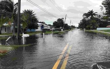Weekend rain bands from Tropical Storm Eta left water pooling on Southwest Dyer Point Road in Palm City on Monday, Nov. 9, 2020.  Syndication Treasure Coast (Photo by WILL GREENLEE/TCPALM/USA Today Network/Sipa USA) (McLean - 2020-11-09, USA TODAY Network / IPA) p.s. la foto e' utilizzabile nel rispetto del contesto in cui e' stata scattata, e senza intento diffamatorio del decoro delle persone rappresentate