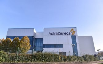 MACCLESFIELD, ENGLAND - NOVEMBER 07: A general view outside AstraZeneca Millcourt center as the company targets for delivery of UK Covid vaccine by the end of 2020 on November 07, 2020 in Macclesfield, England. (Photo by Nathan Stirk/Getty Images)