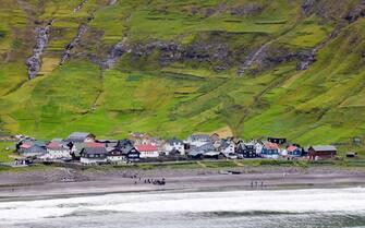 Tjornuvik, Faroe Islands Crown Prince Frederik of Denmark visits Tjornuvik , on August 25, 2018, on the 3rd of the 4 days visit to the Faroe Islands  Photo : Albert Nieboer /  Netherlands OUT / Point de Vue OUT | (Tjornuvik, Faroe Islands - 2018-08-25, Albert Nieboer / IPA) p.s. la foto e' utilizzabile nel rispetto del contesto in cui e' stata scattata, e senza intento diffamatorio del decoro delle persone rappresentate