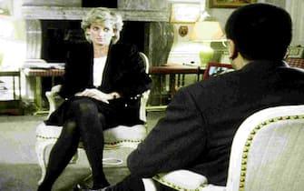 Handout file photo dated 20/11/95 of Diana, Princess of Wales, during her interview with Martin Bashir for the BBC. (London - 2019-08-30, PA/BBC / IPA) p.s. la foto e' utilizzabile nel rispetto del contesto in cui e' stata scattata, e senza intento diffamatorio del decoro delle persone rappresentate
