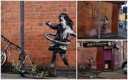 "Banksy, Nottingham: rubata bici da opera ""La bambina con l'hula hoop"""