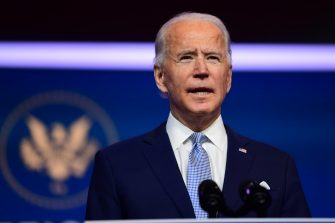 WILMINGTON, DE - NOVEMBER 24: President-elect Joe Biden introduces key foreign policy and national security nominees and appointments at the Queen Theatre on November 24, 2020 in Wilmington, Delaware.As President-elect Biden waits to receive official national security briefings, he is announcing the names of top members of his national security team to the public. Calls continue for President Trump to concede the election as the transition proceeds.   Mark Makela/Getty Images/AFP == FOR NEWSPAPERS, INTERNET, TELCOS & TELEVISION USE ONLY ==