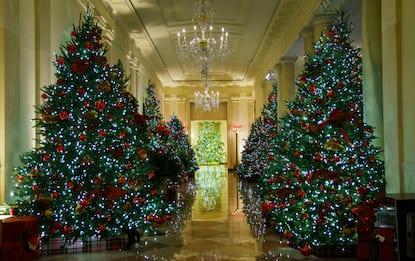 Melania Trump svela gli addobbi natalizi alla Casa Bianca. FOTO