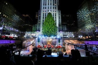 NEW YORK, NEW YORK - DECEMBER 02: Tori Kelly performs during the 88th Annual Rockefeller Center Christmas Tree Lighting Ceremony at Rockefeller Center on December 02, 2020 in New York City. (Photo by Cindy Ord/Getty Images)