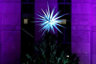 NEW YORK, NEW YORK - DECEMBER 02:  87th Annual Rockefeller Center Christmas Tree Lighting Ceremony at Rockefeller Center on December 02, 2020 in New York City. (Photo by John Lamparski/Getty Images)