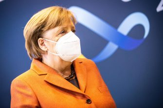German Chancellor Angela Merkel wears a face mask during a press conference after a video conference with German State Premiers about increased anti-coronavirus measures to be implemented on upcoming 16 December, in Berlin, Germany, 13 December 2020. ANSA/RAINER KEUENHOF / POOL