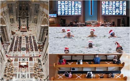 Natale nel mondo, tra celebrazioni con le mascherine e foto curiose