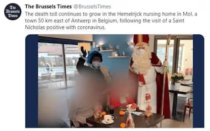 Covid Belgio, Santa Claus positivo visita casa di riposo: 18 morti