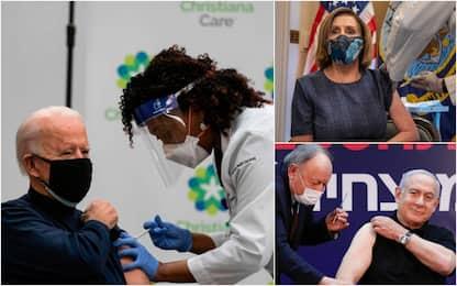Vaccino anti-Covid, i leader politici che lo hanno già fatto. FOTO