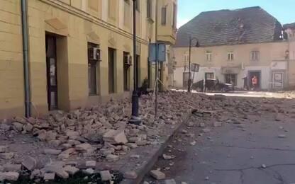 Terremoto in Croazia, il video della scossa e dei primi soccorsi