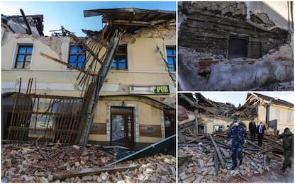 Terremoto Croazia, danni ed edifici crollati. FOTO