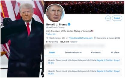 Trump bloccato da Twitter, Facebook e Instagram dopo assalto Congresso