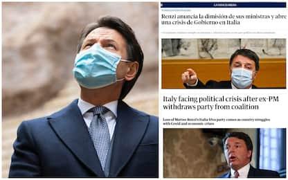 Crisi di governo, la notizia sui giornali e sui siti internazionali