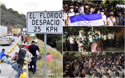 Almeno 4.500 migranti partiti dall'Honduras sono entrati in Guatemala