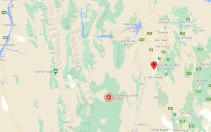 Argentina, terremoto di magnitudo 6.4 nel nordovest del Paese