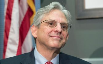 epa08922948 (FILE) - Then Supreme Court nominee, Merrick Garland, Chief Judge, US Court of Appeals, DC Circuit, meets with Republican Senator from Illinois, on Capitol Hill in Washington DC, USA, 28 March 2016 (Reissued 06 January 2021). According to reports on 06 January, President-elect Joe Biden will nominate Merrick Garland to become the next US Attorney General.  EPA/MICHAEL REYNOLDS *** Local Caption *** 52671556