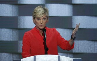 epa05446261 Former Michigan Governor Jennifer Granholm delivers remarks on stage during the final day of the Democratic National Convention at the Wells Fargo Center in Philadelphia, Pennsylvania, USA, 28 July 2016. The four-day convention is expected to end with Hillary Clinton formally accepting the nomination of the Democratic Party as their presidential candidate in the 2016 election.  EPA/SHAWN THEW