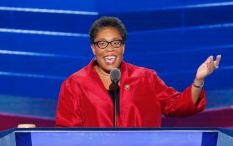 epa08872066 (FILE) - US Representative from Ohio and Chair of the Democratic National Convention Marcia Fudge speaks at the 2016 Democratic National Convention at the Wells Fargo Center, in Philadelphia, Pennsylvania, USA, 27 July 2016 (reissued 09 December 2020). According to reports, Marcia Fudge was picked as US housing and urban development secretary on 08 December 2020 by US President-elect Biden.  EPA/SHAWN THEW *** Local Caption *** 52914183