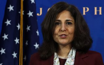 WILMINGTON, DELAWARE - DECEMBER 01: Director of the Office of Management and Budget nominee Neera Tanden speaks during an event to name President-elect Joe Biden's economic team at the Queen Theater December 1, 2020 in Wilmington, Delaware. Biden is nominating and appointing key positions to the Treasury Department, Office of Management and Budget, and the Council of Economic Advisers. (Photo by Alex Wong/Getty Images)