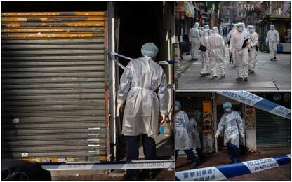 Covid, lockdown a Hong Kong per migliaia di cittadini e test a tappeto