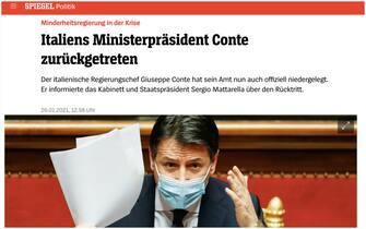 dimissioni conte giornali esteri