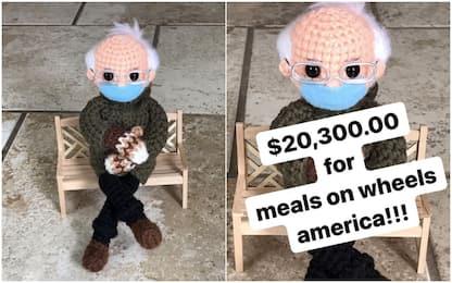 Meme Sanders diventa bambola all'uncinetto, venduta per 20mila dollari