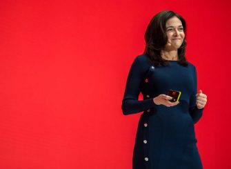 20 January 2019, Bavaria, München: Sheryl Sandberg, Managing Director of Facebook, speaks on stage at the Digital Life Design (DLD) innovation conference. During her appearance she assured that the online network had changed after the recent data scandal and the crisis over political propaganda from Russia. Photo: Lino Mirgeler/dpa (Photo by Lino Mirgeler/picture alliance via Getty Images)