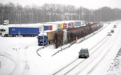 Maltempo, tempesta di neve Darcy si abbatte su Olanda e Germania. FOTO