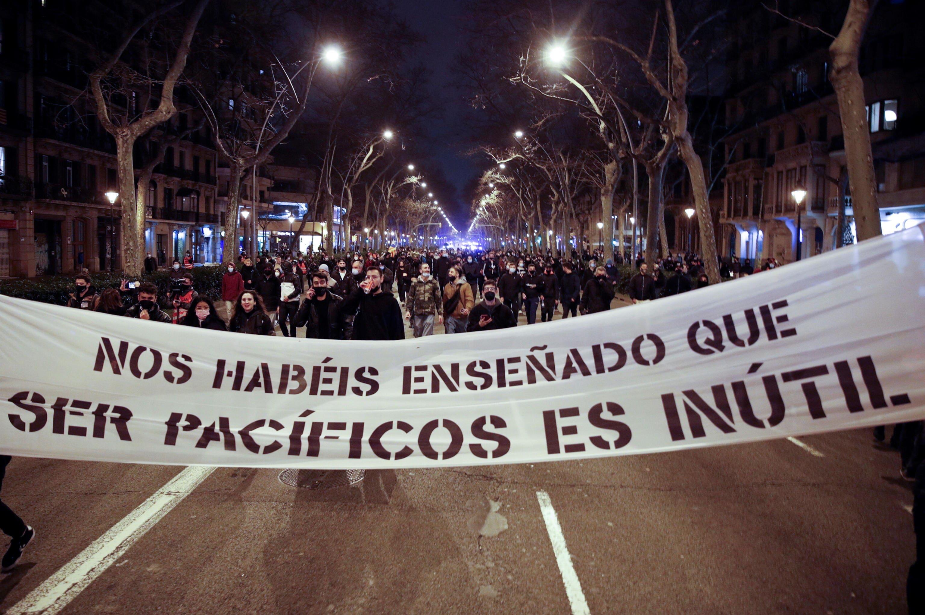 proteste barcellona pablo hasel