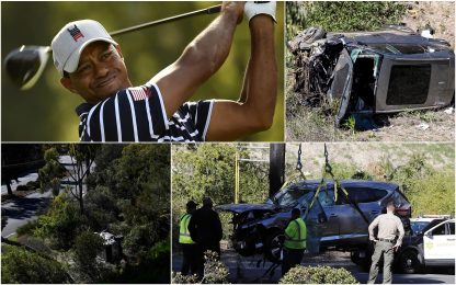 "Incidente d'auto per Tiger Woods, polizia: ""Fortunato a sopravvivere"""