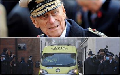 Uk: principe Filippo trasferito in altro ospedale, controlli al cuore