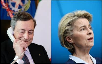 Covid, Draghi sente von der Leyen: priorità è accelerare con vaccini