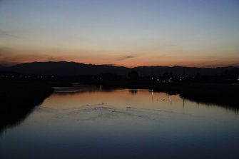 The Ukedo river at dusk in Namie, Fukushima Prefecture, Japan, on Sunday, March 7, 2021. Laid waste by a nuclear disaster a decade ago, Japans Fukushima is still struggling to recover, even as the government tries to bring people and jobs back to former ghost towns by pouring in billions of dollars to decontaminate and rebuild. Photographer: Toru Hanai/Bloomberg via Getty Images