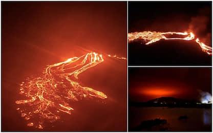 Islanda, eruzione vulcanica vicino a Reykjavik. FOTO