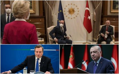 Turchia, Erdogan: parole di Draghi totale maleducazione