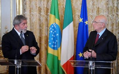 """Brasile, Lula: """"Mi scuso con il 'compagno Napolitano' per Battisti"""""""