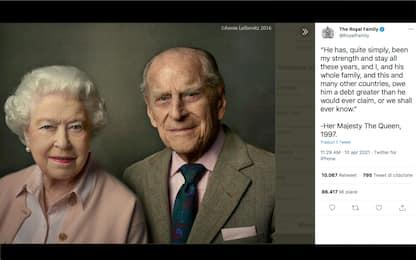 """Morte principe Filippo, la regina Elisabetta: """"È stato la mia forza"""""""