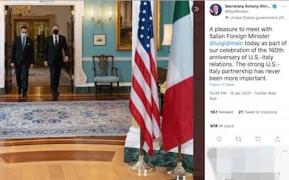 Italia-Usa, 160 anni di rapporti: Di Maio incontra Blinken