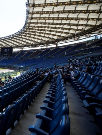 Un momento della conferenza stampa di presentazione degli Internazionali BNL d'Italia 2020 di Tennis allo Stadio Olimpico, Roma, 08 settembre 2020. ANSA/ANGELO CARCONI