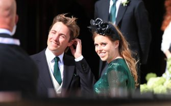 EMBARGOED TO 1700 THURSDAY APRIL 15 File photo dated 31/8/2019 of Princess Beatrice and her husband Mr Edoardo Mapelli Mozzi who are two of the 30 members of the royal family who will be in attendance at the Duke of Edinburgh's funeral at Windsor Castle on Saturday. Issue date: Thursday April 15, 2021.